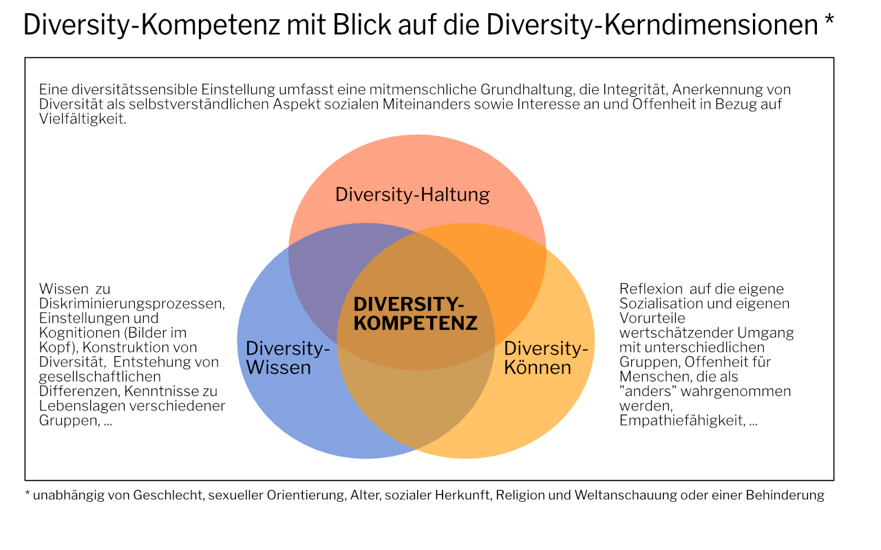 Diversity-Kompetenz mit Blick auf die Diversity-Kerndimensionen