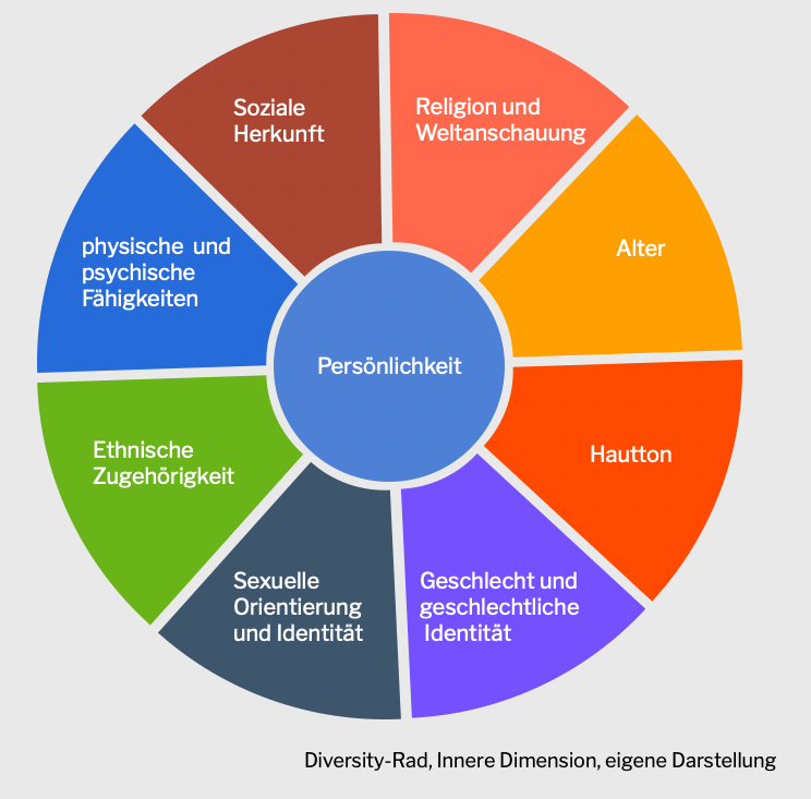 Die Grafik zeigt ein Diversity-Rad